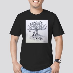 Boston Terrier love tree hearts T-Shirt
