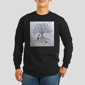 Boston Terrier love tree hearts Long Sleeve T-Shir