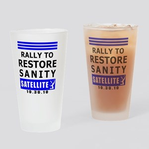rally-BLACK Drinking Glass