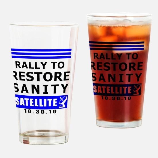 rally-BLACK Drinking Glass