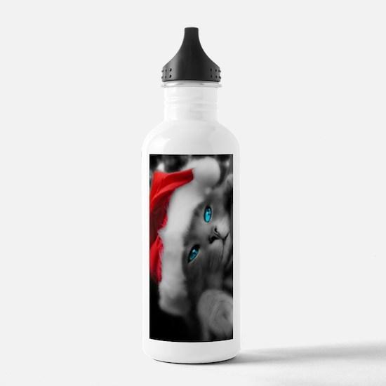 Cmas Kitty journal Water Bottle