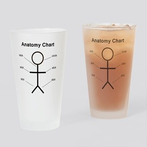 anatomy Drinking Glass