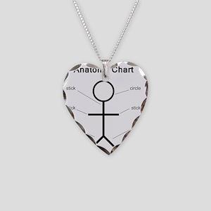 anatomy Necklace Heart Charm