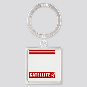 march-white Square Keychain