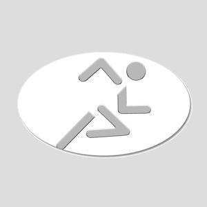 Sprinting Stick Figure - Light Wall Decal