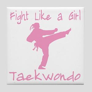 fight like a girl(blk) copy Tile Coaster