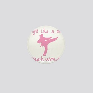 fight like a girl(blk) copy Mini Button