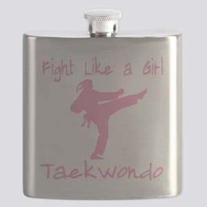 fight like a girl(blk) copy Flask