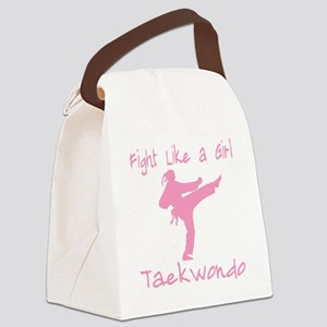 fight like a girl(blk) copy Canvas Lunch Bag
