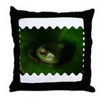 Lazy Frog  Throw Pillow