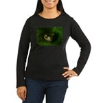 Lazy Frog Women's Long Sleeve Dark T-Shirt