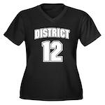 District 12 Design 6 Women's Plus Size V-Neck Dark