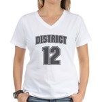 District 12 Design 6 Women's V-Neck T-Shirt