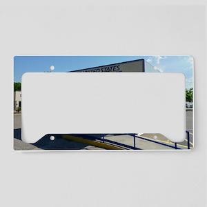 01-post-office License Plate Holder