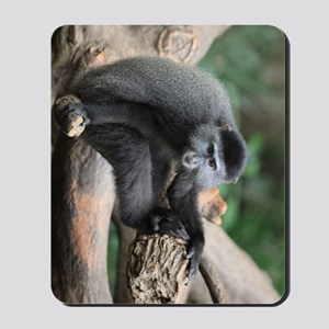 Blue Monkey in Tree 23x35 Mousepad