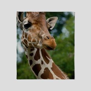 Giraffe Art Throw Blanket