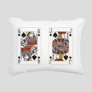 Queen Jack Spades Rectangular Canvas Pillow