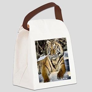 siberian tiger art Canvas Lunch Bag