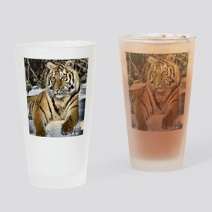 siberian tiger art Drinking Glass