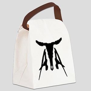 ATA Skull Canvas Lunch Bag