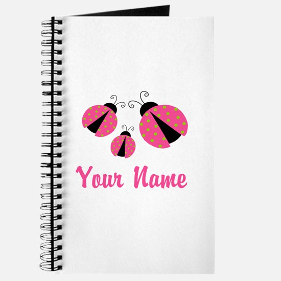 Ladybug Pink Personalized Journal