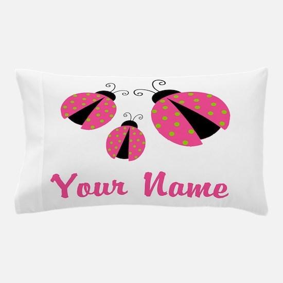 Ladybug Pink Personalized Pillow Case
