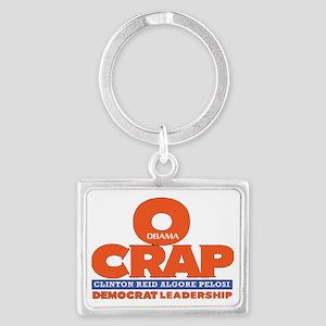 O-Crap Political T-Shirt Landscape Keychain