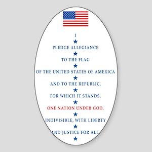 PLEDGE Sticker (Oval)