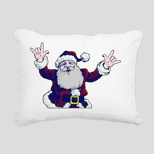 ASL Santa I Love You Rectangular Canvas Pillow