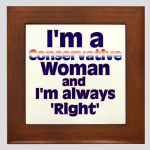 conservativewomanright2 Framed Tile