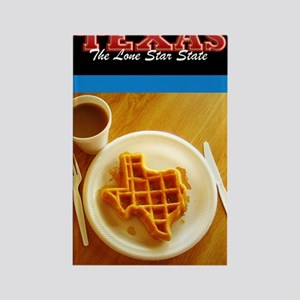 Postcard Texas Waffle_300dpi_5x8 Rectangle Magnet