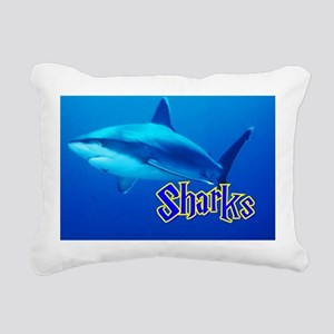 Sharks Wall Calendar Rectangular Canvas Pillow