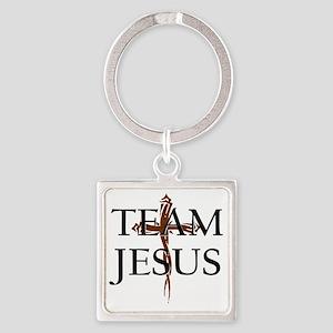 TeamJesus Square Keychain
