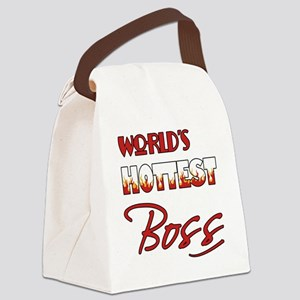 World's Hottest Boss Canvas Lunch Bag