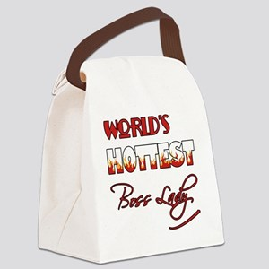 World's Hottest Boss Lady Canvas Lunch Bag