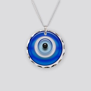 Evil Eye Dark2 copy Necklace Circle Charm