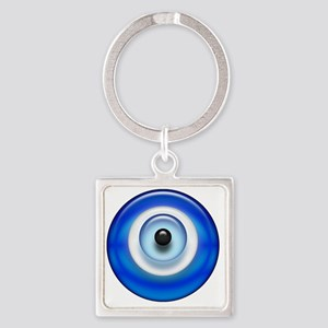 Evil Eye Dark2 copy Square Keychain