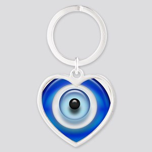 Evil Eye Dark2 copy Heart Keychain