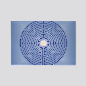 Lotus Labyrinth Rectangle Magnet Magnets