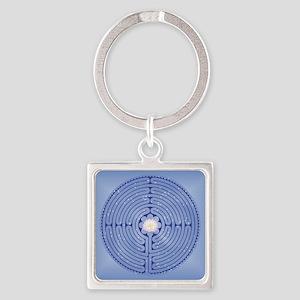 Lotus Labyrinth Square Keychain Keychains