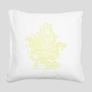 dragon-bks_yellow Square Canvas Pillow