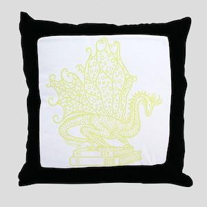 dragon-bks_yellow Throw Pillow