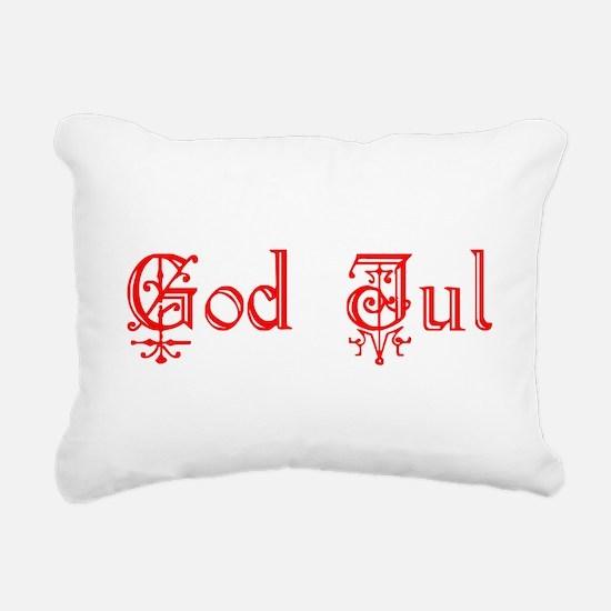 God Jul Rectangular Canvas Pillow