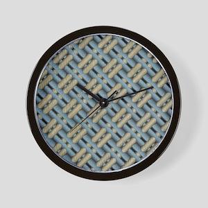 Tweed weave Wall Clock