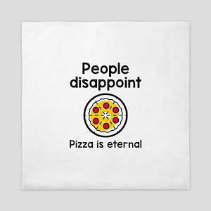Pizza Is Eternal Queen Duvet