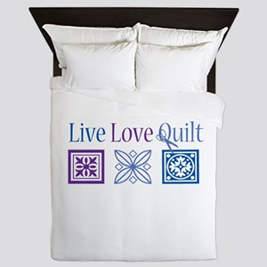 Live Love Quilt Queen Duvet
