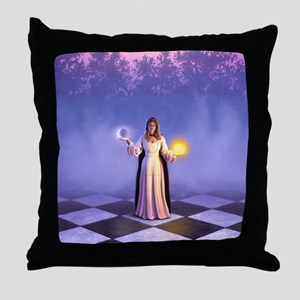 Wiccan Twilight Throw Pillow