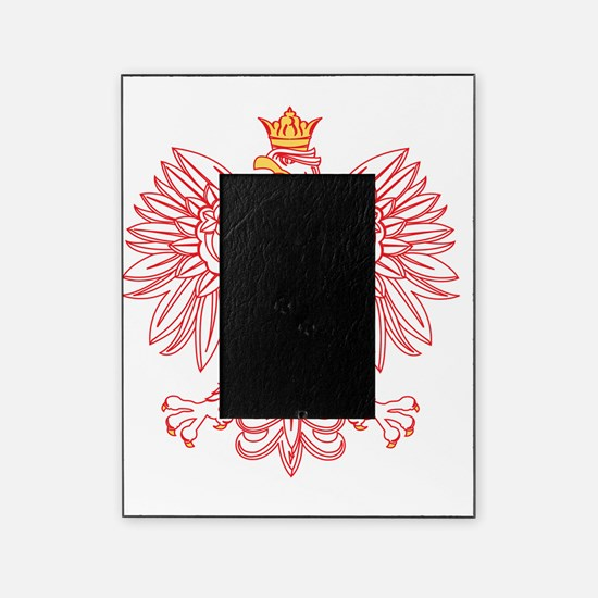 Polish Eagle Outlined In Red Picture Frame