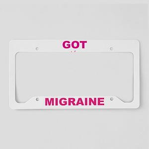 Got Migraine Pink Logo License Plate Holder