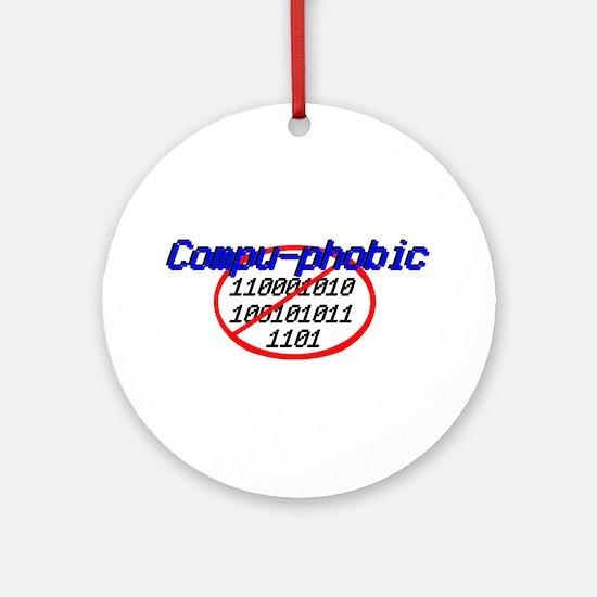 compu phobic Ornament (Round)